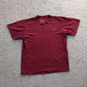 Nike Short Sleeve Logo T-Shirt Men's Small Red White